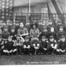 Photo:The 8th Morden Cub Scouts c1943. Peter Leonard back row 4th from the right. (Please click on photo to go to our scouting page)