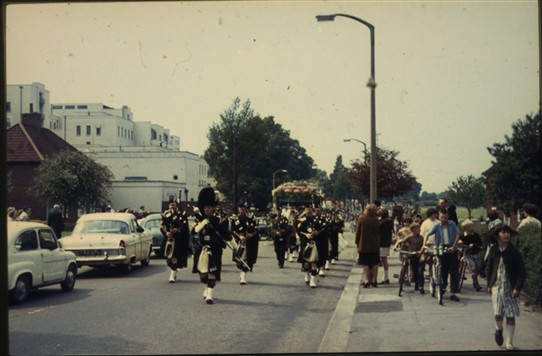 Photo:A Band marching in the Parade