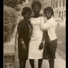 Photo:Mary Boateng (Ghana), Joyce Edmund (Trinidad) and Beatrice (Ghana) St. Helier nurses 1960's