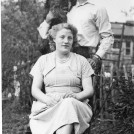 "Photo:Jack and Elsie Law with ""Fluff"" 220 Wrythe Lane"