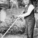 "Photo:Francis Edward Law known as  ""Pop"" in garden of 220 Wrythe Lane"