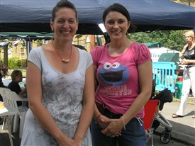 Photo:Marie and Charlie organisers of the Winchcombe Road Big Lunch