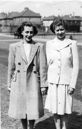 Photo:Dressed to impress - Jean Fitches and Doreen Wilkes