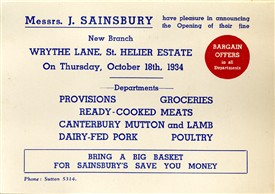 Photo:Advertising the opening of the new Sainsbury store