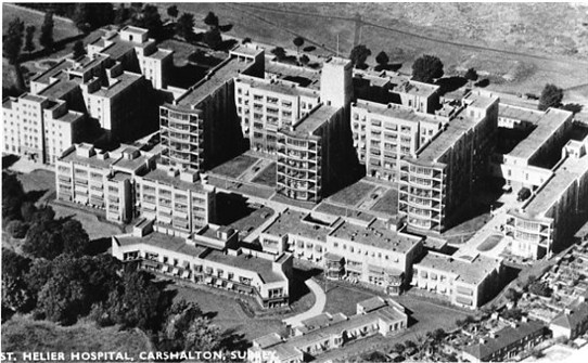 Photo:An aerial view of the hospital