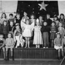 "Photo:""Sleeping Beauty"" with the pupils of School no 9 Green Wrythe Lane circa 1954"