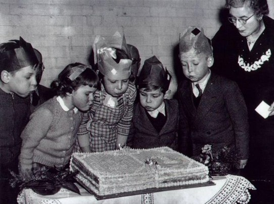 Photo:Green Wrythe Lane Infants School 21st party. 17th Feb.1956