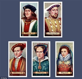 Photo:The Kings and Queens Cigarette Cards produced by Carreras 1935