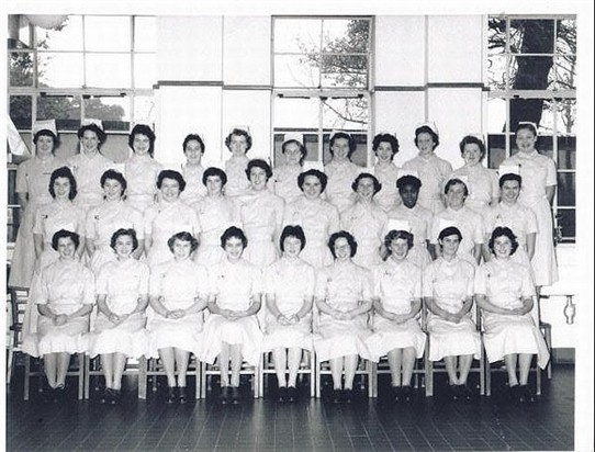 Photo:Photograph of the October 1958 students (Maureen Arnold 2nd left at back)
