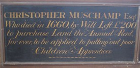 Photo:A record of the Muschamp charity in All Saints, Carshalton