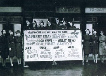 Photo:Christmas 1944 at The Gaumont. Rose Tearle, the manageress, is far left.