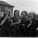 Photo:Wartime female workers at the Munitions factory, Hackbridge