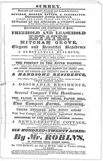 Photo:Title page of 1828 sale catalogue